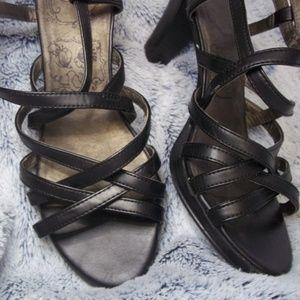 Jellypop Black High Heels
